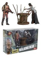 THE WALKING DEAD TV SERIES MORGAN & IMPALED ZOMBIE WALKER ACTION FIGURE BOXSET