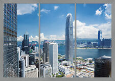 CITY WINDOW RIVER SKYSCRAPERS Photo Wallpaper Wall Mural 360x254cm OFFICE VIEW