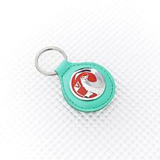 GREEN Leather Richbrook Vauxhall Logo Leather Key Ring / Fob 4400.45