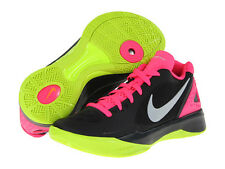 NIKE WOMENS Size 6.5 VOLLEY ZOOM HYPERSPIKE Black Silver Pink Lime