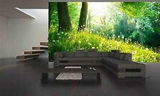 Green Grass and Trees  Wall Mural Photo Wallpaper GIANT WALL DECOR PAPER POSTER