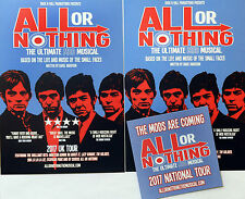 THE SMALL FACES ALL OR NOTHING MOD MUSICAL 2017 TOUR FLYERS & PROMO COASTER