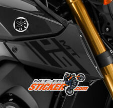 Yamaha MT-09 Stickers / Decals Air intake cover LEFT + RIGHT mt09 (BLACK)