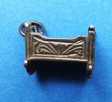 VINTAGE ANTIQUE BABY CRIB COT STERLING SILVER CHARM