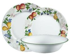 CORELLE 18-pc CHUTNEY DINNERWARE SET Fruit Orchard *NEW Wide Rim Style NO Swirl""