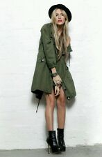 NEW Evil Twin Belsen Oversized Miltary  Parka Coat Khaki Green X Small  SOLD OUT