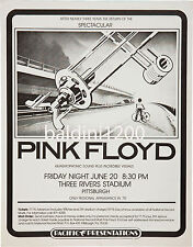 PINK FLOYD - HIGH QUALITY 1975 RARE GERMAN CONCERT POSTER - LOOKS AWESOME FRAMED