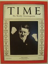 ADOLF HITLER TIME MAGAZINE DECEMBER 21 1931 COVER PAGE PHOTO ON 4X6 GLOSSY