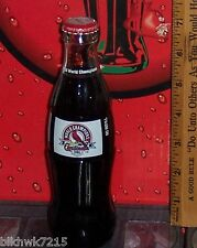 2007 ST LOUIS CARDINALS WORLD CHAMPIONS 2006 8 OUNCE GLASS COCA -  COLA BOTTLE