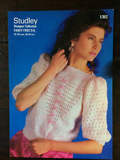 "Studley Knitting Pattern: Ladies Sweater, DK, 30-40"", 1362"