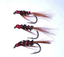 Red Tinsel Diawl Bach Trout Buzzers Trout Lures Dry Fly Fishing Trout Flies