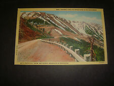 Vintage linen PC Highway Thru the Mountains of the Great Northwest