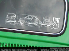 FIAT 500 Classic-Auto Adesivo-Forum proprietari Club BLUEPRINT NUOVO D, F, L, R abarth