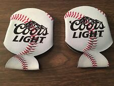 Coors Light Baseball Koozie Silver Bullet Bottle Can Set of (2) New Free Ship