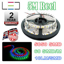 5M 12V RGB LED Strip Light 5050 IP65 300SMD 16Lm / SMD 60SMD / M Bright Impermeabile