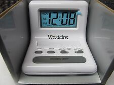 Westclox Travel Alarm Clock.  LCD Display #47539A  NEW