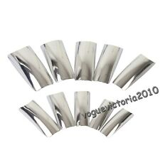 70pcs electroplating Silver color false nail French nail tips W/ Box
