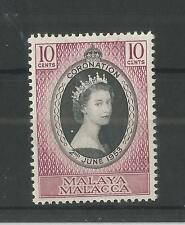MALACCA 1953 CORONATION SG,22 U/M N/H LOT 2258A