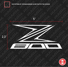 2x Z800 sticker vinyl decal white