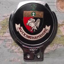 Used Chrome Car Mascot Badge : Buckinghamshire by Renamel B