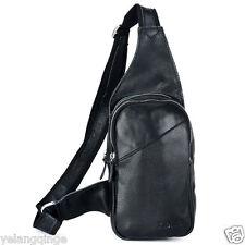 TIDING Genuine cowhide leather boys Satchel travel bag men sling backpack BNWT