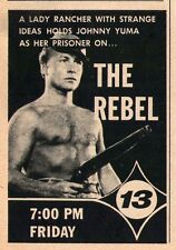 1963 tv ad~NICK ADAMS IS THE REBEL~WESTERN TV SERIES~SHIRTLESS~BARE CHESTED