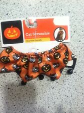 #1833 SIMPLY CAT HALLOWEEN NECK SCRUNCHIE COSTUME 1 SIZE FIT MOST ORANGE/BLK NEW