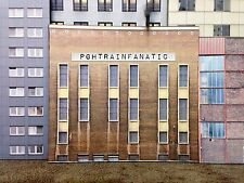 *O Scale Scratch Built Industrial #4 Factory Building Front/Flat, MTH Lionel*