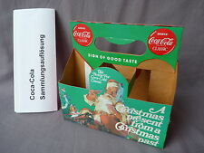 Coca Cola six pack Karton 1989 christmas Flaschen korb Pappe Nr 3