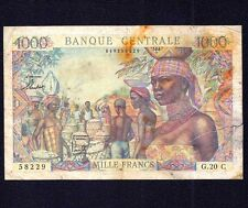 French Equatorial Africa 1000 Francs  P-5a  1963
