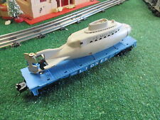 LIONEL POSTWAR 3830 OPERATING SUBMARINE CAR 1960-63 GOOD CONDITION