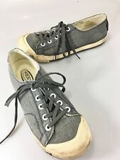 Keen Mens 9 US 42EU Gray Canvas Sneakers Gym Shoes