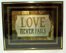 Love Never Fails   Inspirational Wall Picture, Wall Plaque