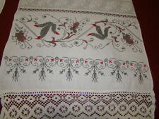 Vintage Ukrainian embroidered  rushnyk Poltava reg #353