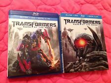 TRANSFORMERS: DARK OF THE MOON BLU-RAY + DVD 2011 MOVIE SPIELBERG MICHAEL BAY