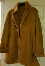Blue Duck Fitted Shearling Coat with Shearling Hem Size L NWT