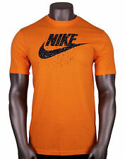 NIKE Futura Icon Speckles Logo T-Shirt sz S Small Orange Black Roshe Max 90 95