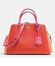 NWT Coach Colorblock Margot Carryall Handbag Color: Carmine Multi F37248