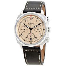 Bulova Chronograph Beige Dial Mens Watch 96B231