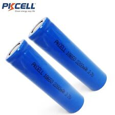 2X  Li-ion 18650 Vape Mod & Torch Rechargeable Battery 2200mAh Flat Top PKCELL
