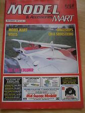 MODEL & ACCESSORIES MART SEPT 1989 SPACESHIPS CARS AIRCRAFT MILITARY BOATS RAIL