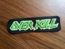 OVERKILL,SEW ON GREEN EMBROIDERED PATCH