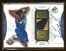 JAVALE MCGEE 2008-09 SP AUTHENTIC RC AUTO PATCH LOGO /499  BEAUTIFUL GOLD PATCH