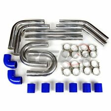 "REV9 BLUE 2.25"" UNIVERSAL TURBO ALUMINUM INTERCOOLER PIPING KIT+SILICONE+CLAMP"