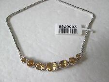 "Brazilian Citrine Platinum Bond Adjustable Bracelet 4 to 8"" TGW 2.350 cts."