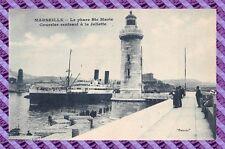 CPA 13 - MARSEILLE - le phare ste marie, courrier rentrant à la joliette