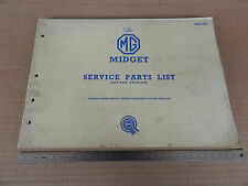 CATALOGO ORIGINALE RICAMBI 1962 BMC MG MIDGET SPIDER SERVICE PARTS LIST