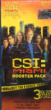 CSI Miami Booster Pack-3 Crime Stories Brand New
