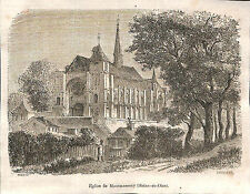 MONTMORENCY EGLISE GRAVURE ILLUSTRATION 1864