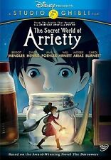 WALT DISNEY - STUDIO GHIBLI THE SECRET WORLD OF ARRIETTY DVD MENDLER-HENRIE W/S